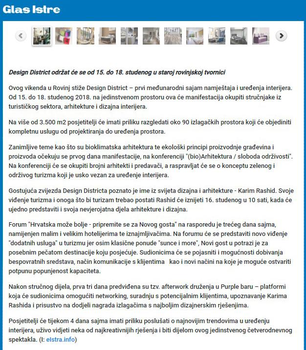 Glas Istre-Članak prije sajma12.11.18-2