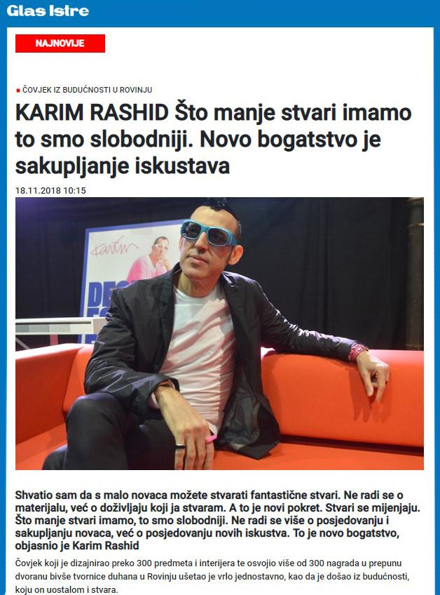 Glas Istre-Karim Rashid interviju