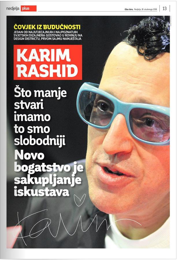 Glas Istre-Karim rashid Glas Istre Interviju